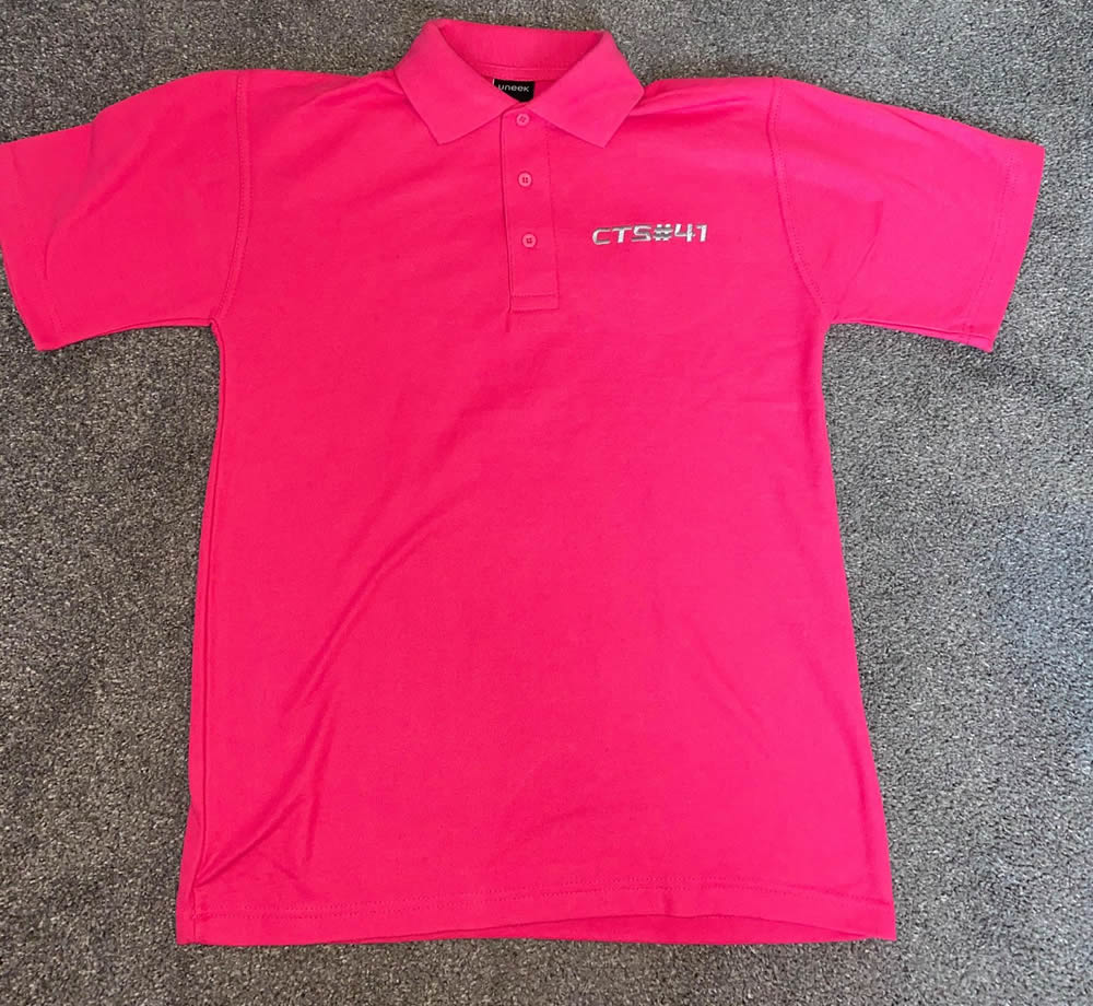 Pink Polo Front